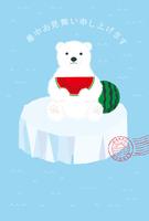 White Bear summer greeting card illustration [5011952] White