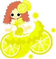 Fashionable girl wearing a fruit of dress [5020626] An