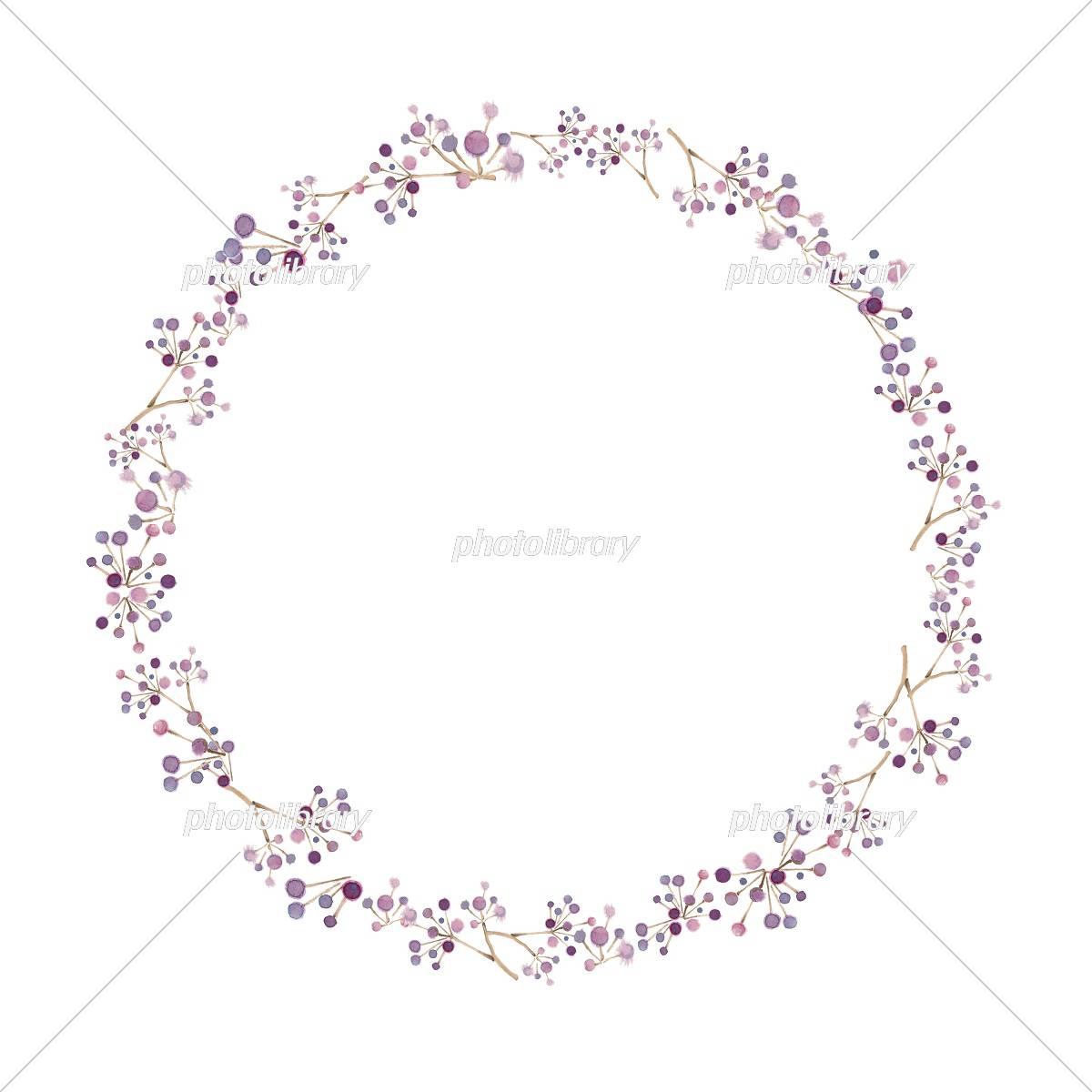 秋の森 フレーム 木の実 イラスト素材 [ 5102584 ] - フォトライブ