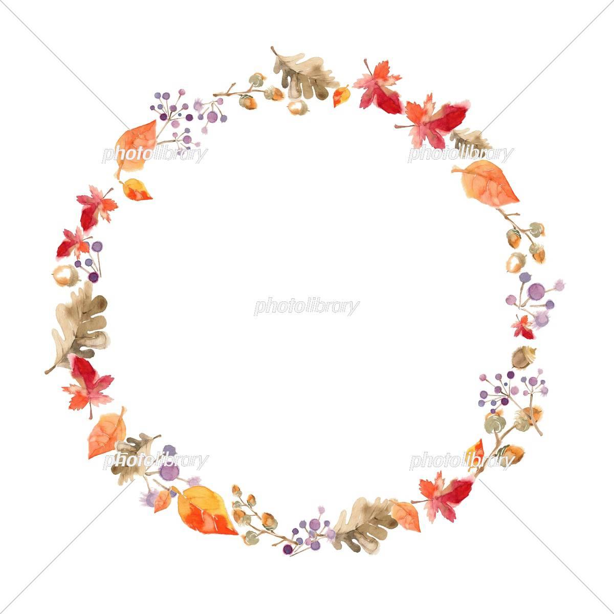秋の森 フレーム イラスト素材 [ 5102586 ] - フォトライブラリー