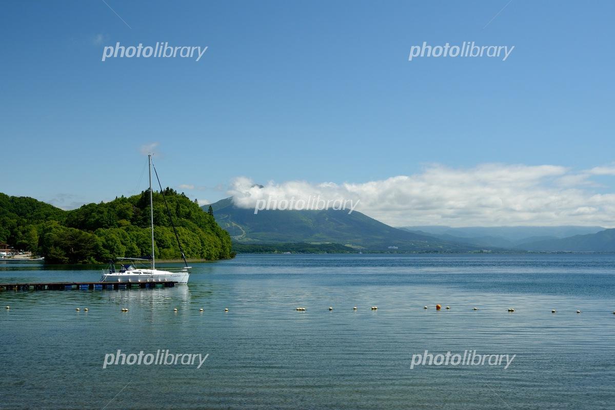 Early summer in Inawashiro Lake scenery Photo
