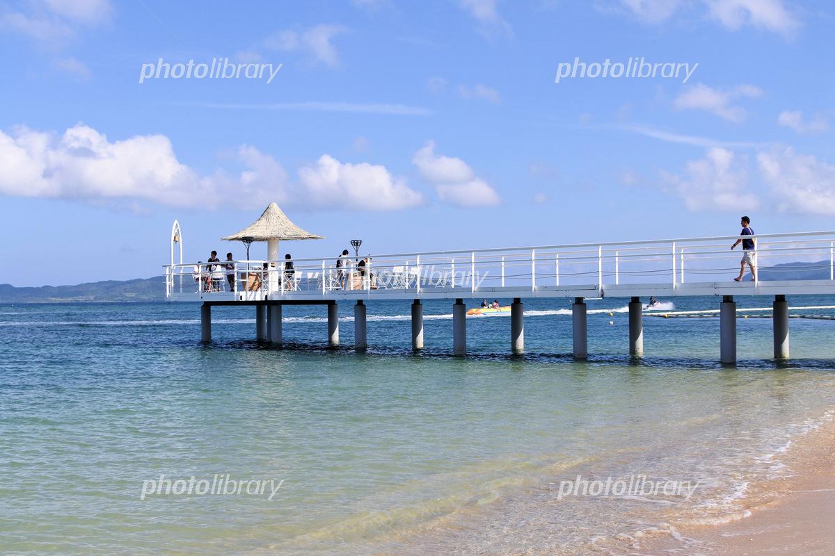 Pier of Husaki Beach Photo