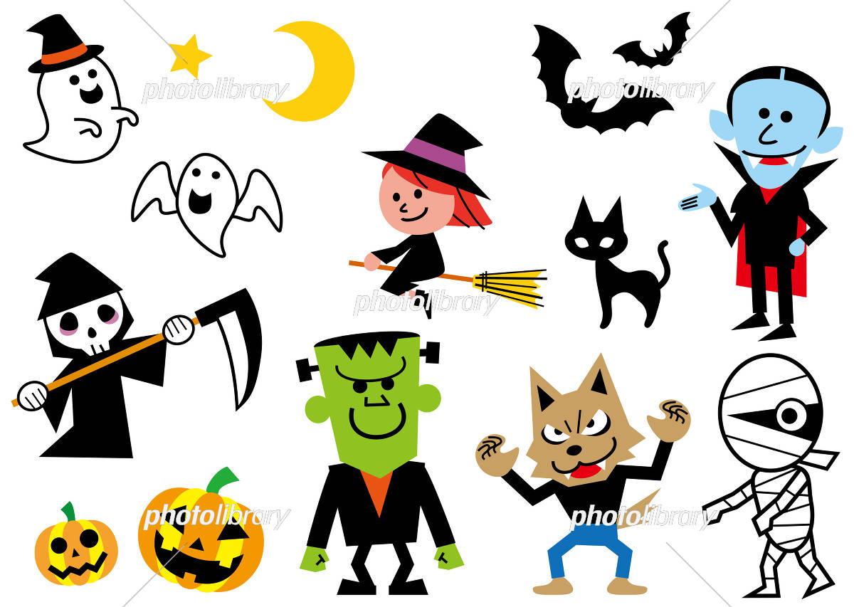 ハロウィンを彩るキャラクター イラスト素材 5110658 フォトライブ