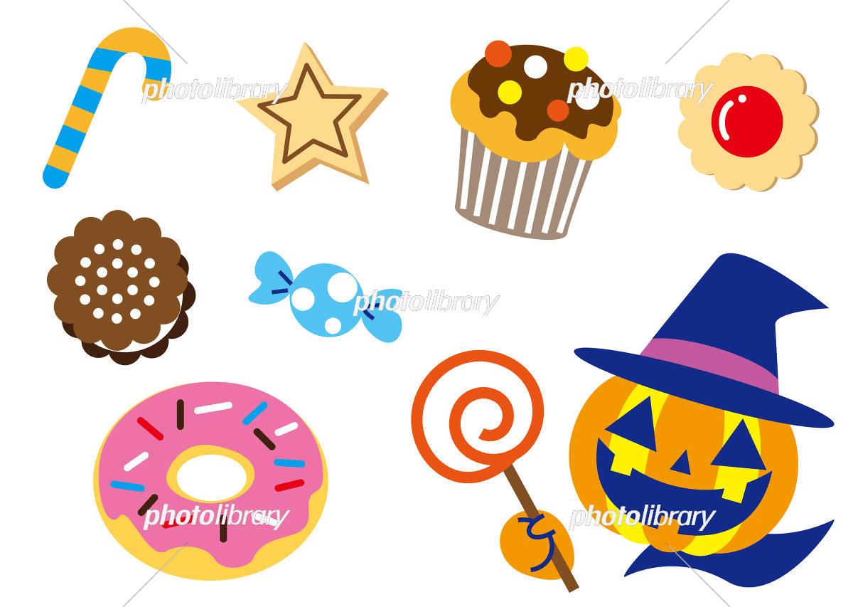 お菓子いっぱい ハロウィン イラスト素材 フォトライブラリー Photolibrary
