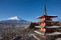 イラスト Shinagurayama Asama Park Terao and Tower and Mt. Fuji(5112291)