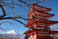 イラスト Shinagurayama Asama Park Terao and Tower and Mt. Fuji(5112305)