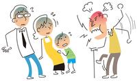 イラスト The elderly who are furious(5112505)