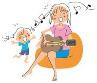 イラスト Singing mom and a boy(5112510)