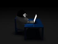 イラスト Penguins and laptops(5112754)