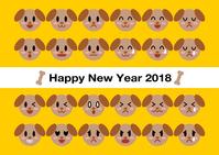 イラスト 2018 New Year 's cards and dolls Dement Illustration(5112792)