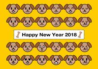 イラスト 2018 New Year's cards year-end canine expression illustration(5112793)