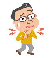 イラスト Illustration of male climacteric throat(5113025)