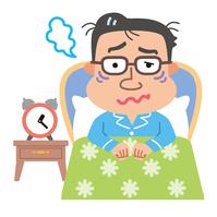 イラスト Male menopausal insomnia illustration(5113026)
