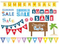イラスト Summer sale logo material set(5113318)