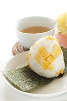 写真 Sweet corn rice balls and barley tea(5113727)