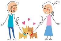 イラスト Pet and owner's love affair(5114583)