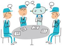 イラスト On-site staff troubled with robots(5114699)