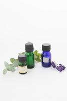 写真 Eucalyptus, mint and lavender oil Vertical position(5115136)