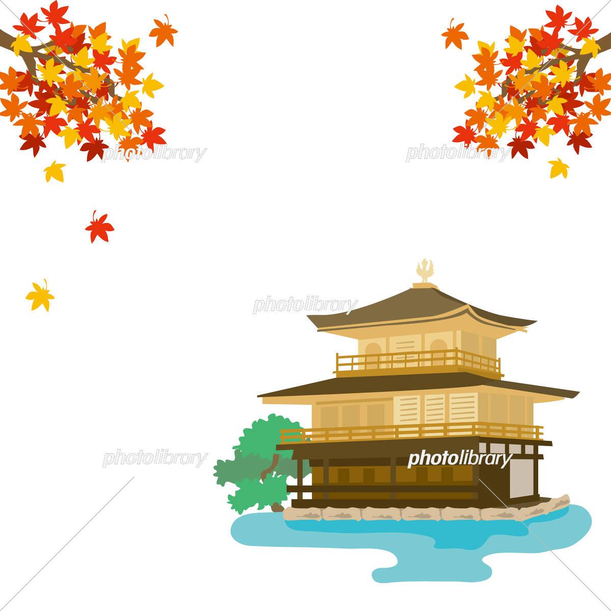 金閣寺 イラスト素材 1158458 フォトライブラリー