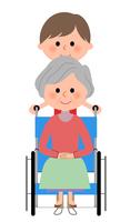 イラスト Elderly nursing staff in wheelchair(5200162)