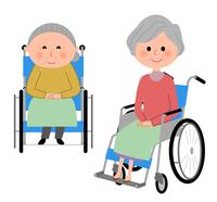イラスト Elderly people riding wheelchairs(5200203)