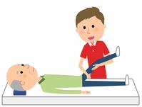イラスト Elderly nursing staff receiving rehabilitation(5200218)