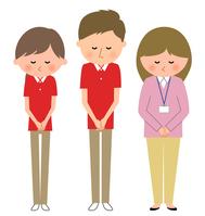 イラスト Nursing care staff Home Perper care manager Bow(5200231)