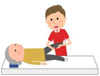 イラスト Elderly nursing staff receiving rehabilitation(5200236)