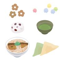 イラスト Kyoto Japanese sweets illustration(5200527)