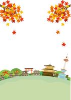 イラスト Kyoto autumn landscape illustration(5200541)
