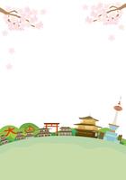 イラスト Kyoto Spring landscape illustration(5200613)