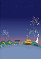 イラスト Kyoto night view illustration(5200640)
