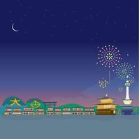 イラスト Kyoto fireworks Kinkakuji illustration(5200649)