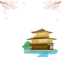 イラスト Kyoto Spring Kinkakuji Illustration(5200666)
