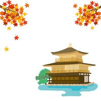 イラスト Kyoto Autumn Kinkakuji illustration(5200667)