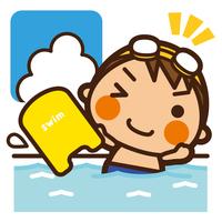 イラスト Kids swimming boys beat board(5201854)