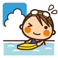 イラスト Foundation Kids swimming girls beat board(5201855)
