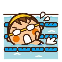 イラスト Kids swimming boys crawling(5201857)