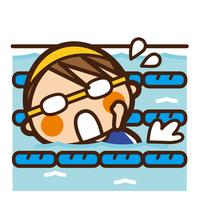 イラスト Foundation Kids Swimming Women's Crawl(5201859)