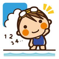 イラスト Foundation Kids swimming girls reserve movement(5201861)