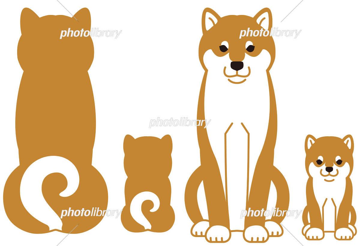 柴犬の親子 イラスト素材 [ 5290980 ] - フォトライブラリー photolibrary