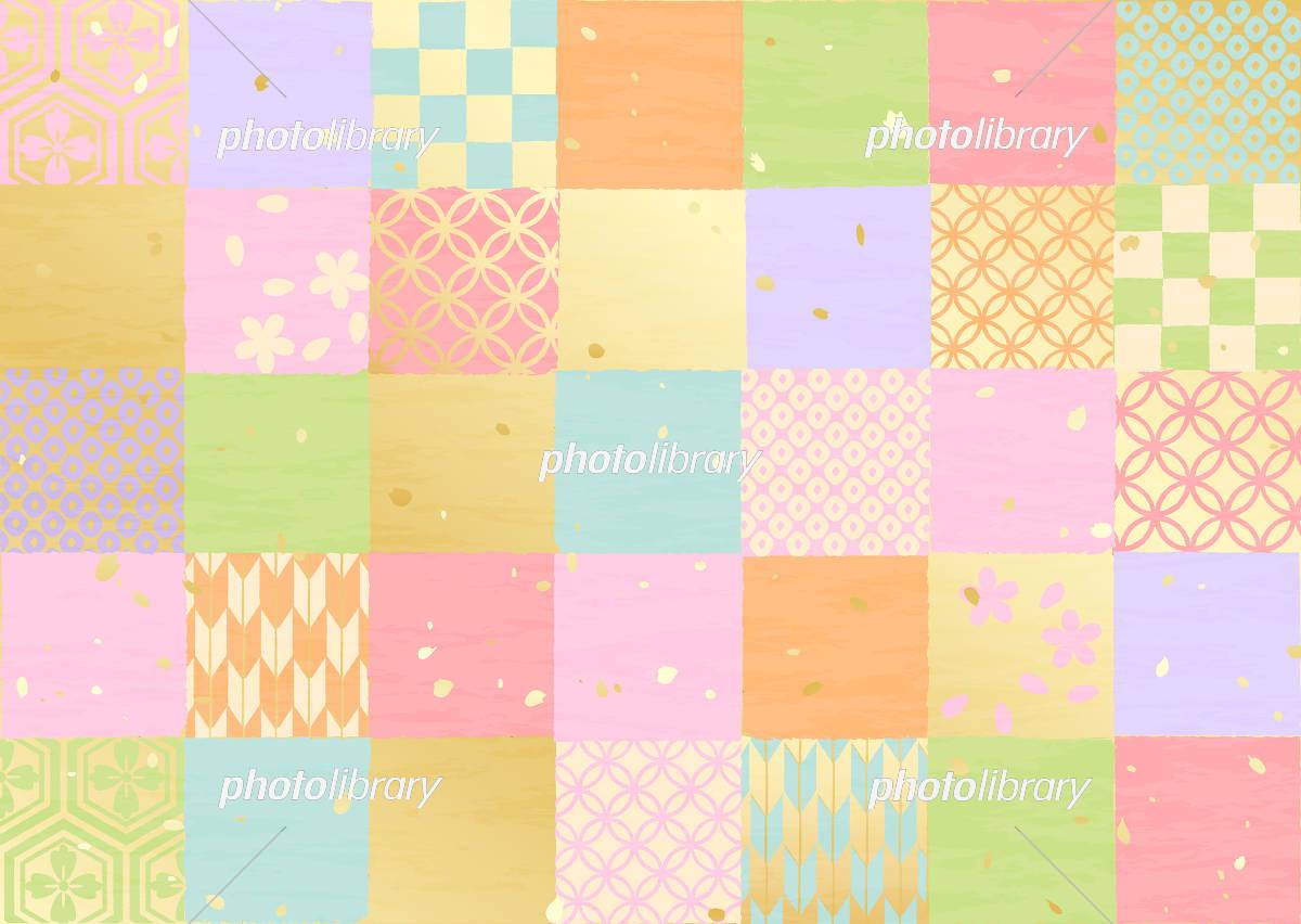 市松模様 いろいろ 和柄 イラスト素材 5292790 フォトライブラリー