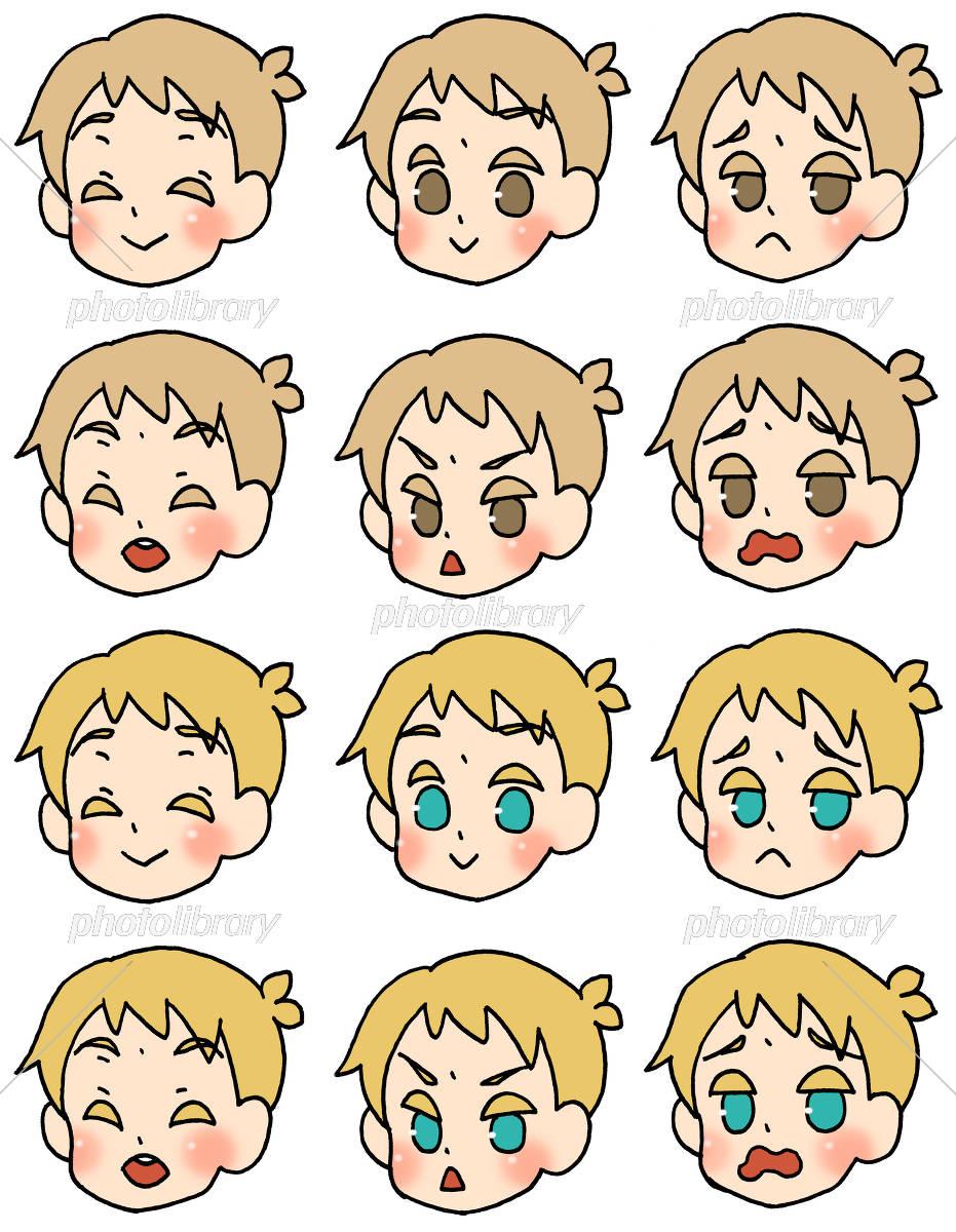 外国の男の子の表情集 イラスト素材 5295800 フォトライブラリー