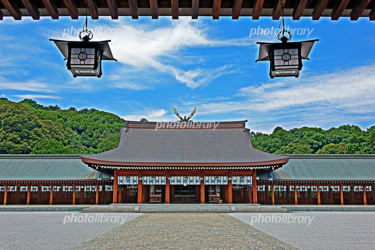 奈良県 橿原神宮内拝殿 HDR 写真...