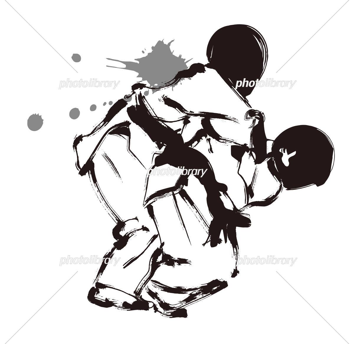 イラスト スポーツ 空手 女子 イラスト素材 [ 417733 ] - フォトライブ