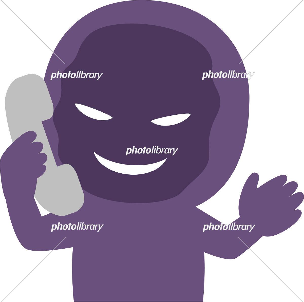 電話口でしゃべる不審人物 イラスト素材 5379313 フォトライブ