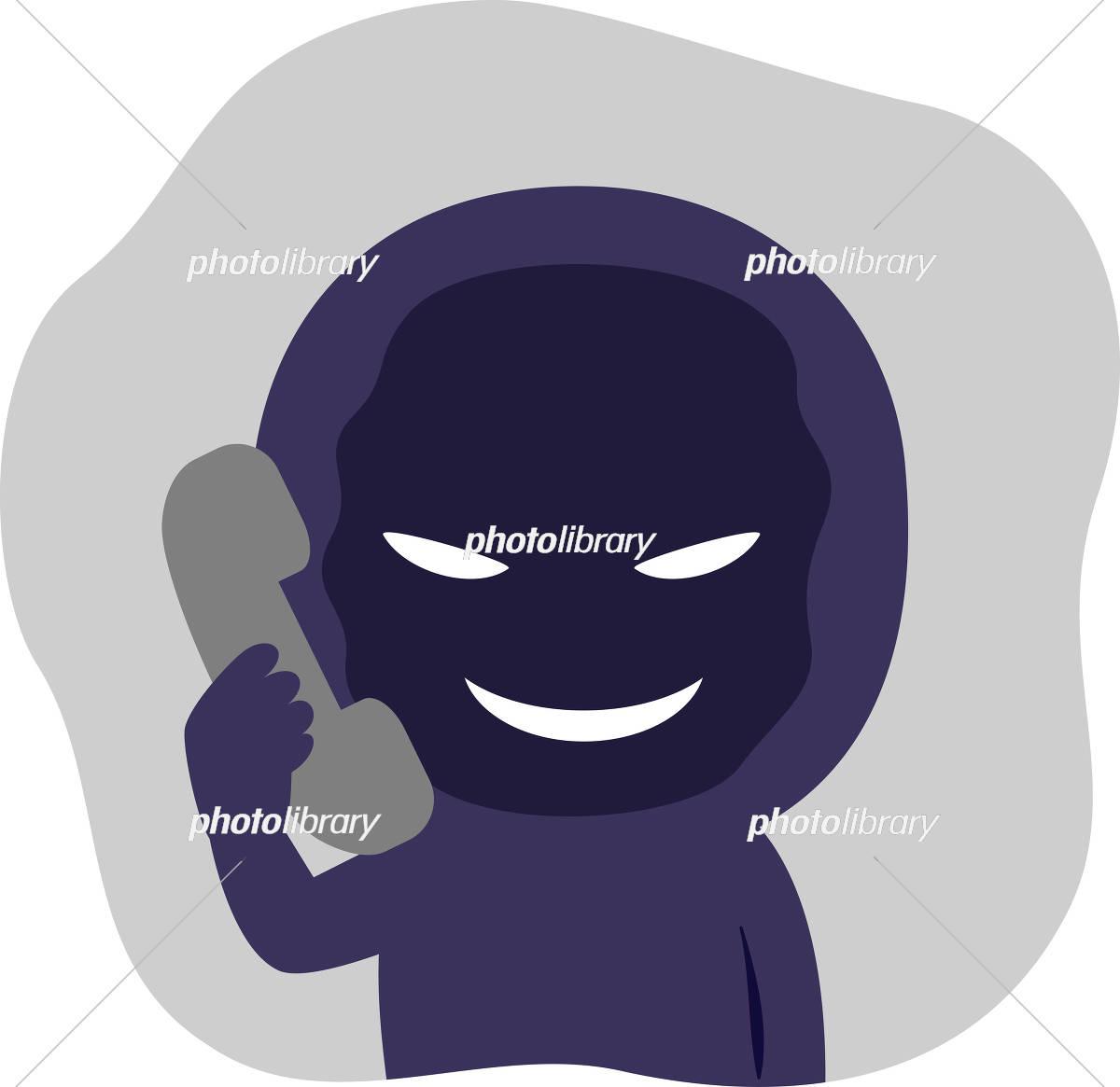 電話口でしゃべる不審人物 イラスト素材 5379314 フォトライブ