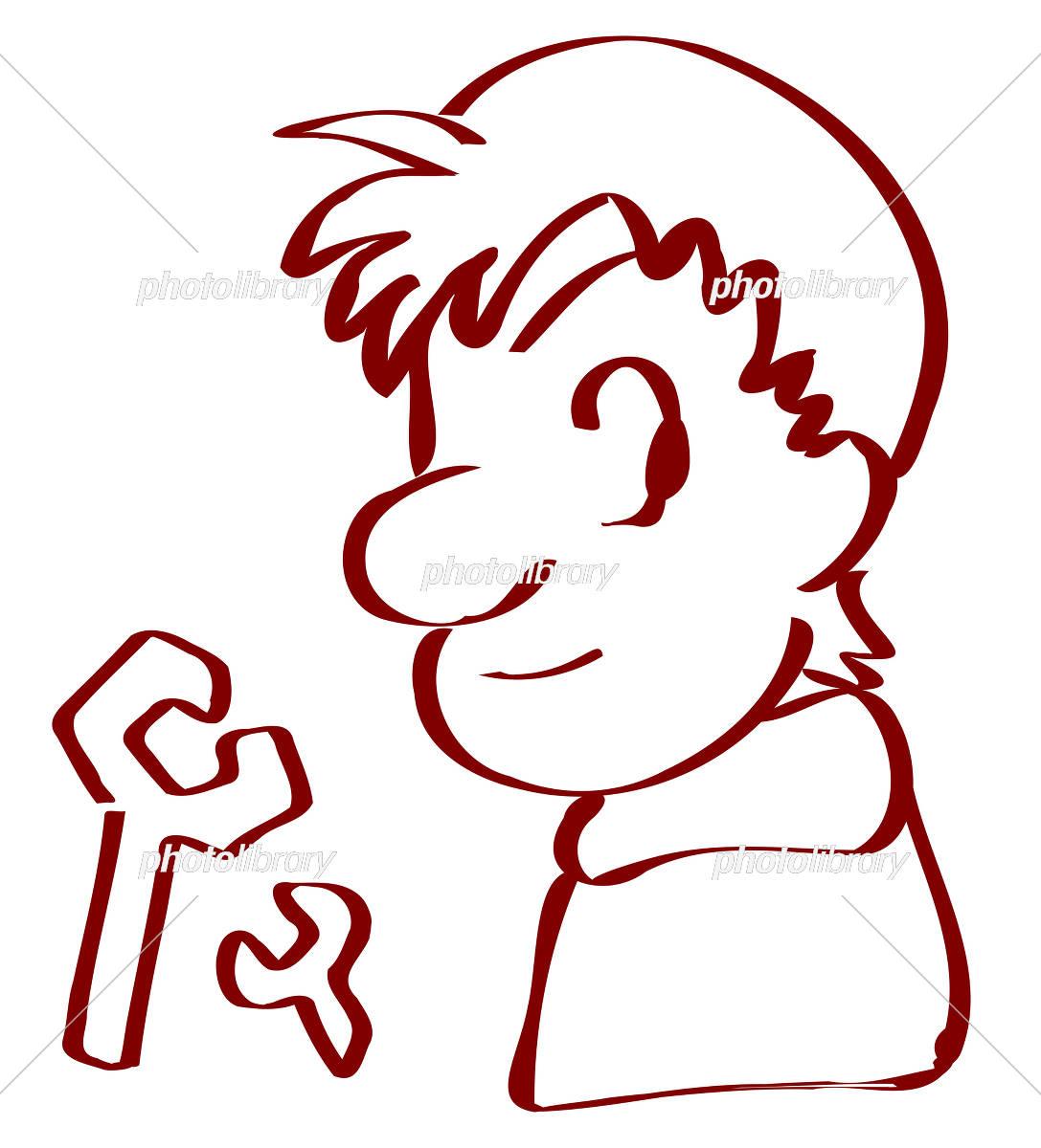 横顔の男性 スパナ イラスト素材 5385446 フォトライブラリー