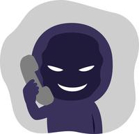 「悪人 イラスト 電話」の画像検索結果