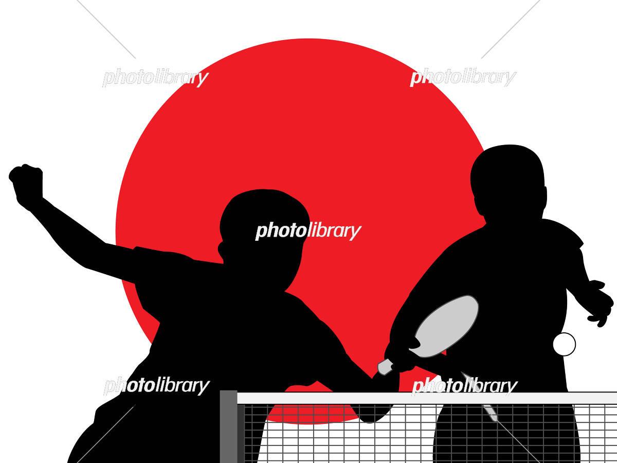 卓球のシルエット イラスト素材 フォトライブラリー Photolibrary